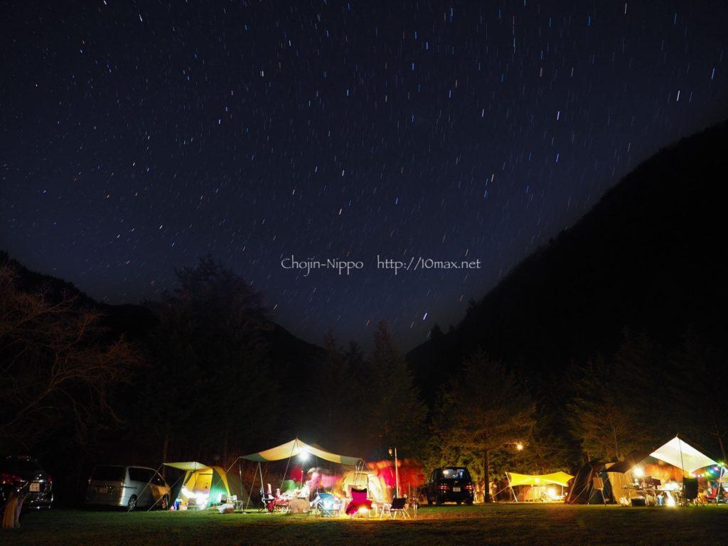 西湖キャンプ場テント村, e-m1 mark ii, ライブコンポジット