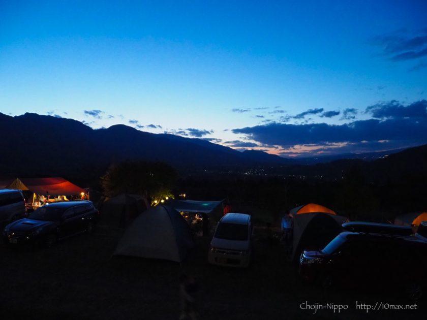 オートキャンプ牧場チロル 夕景