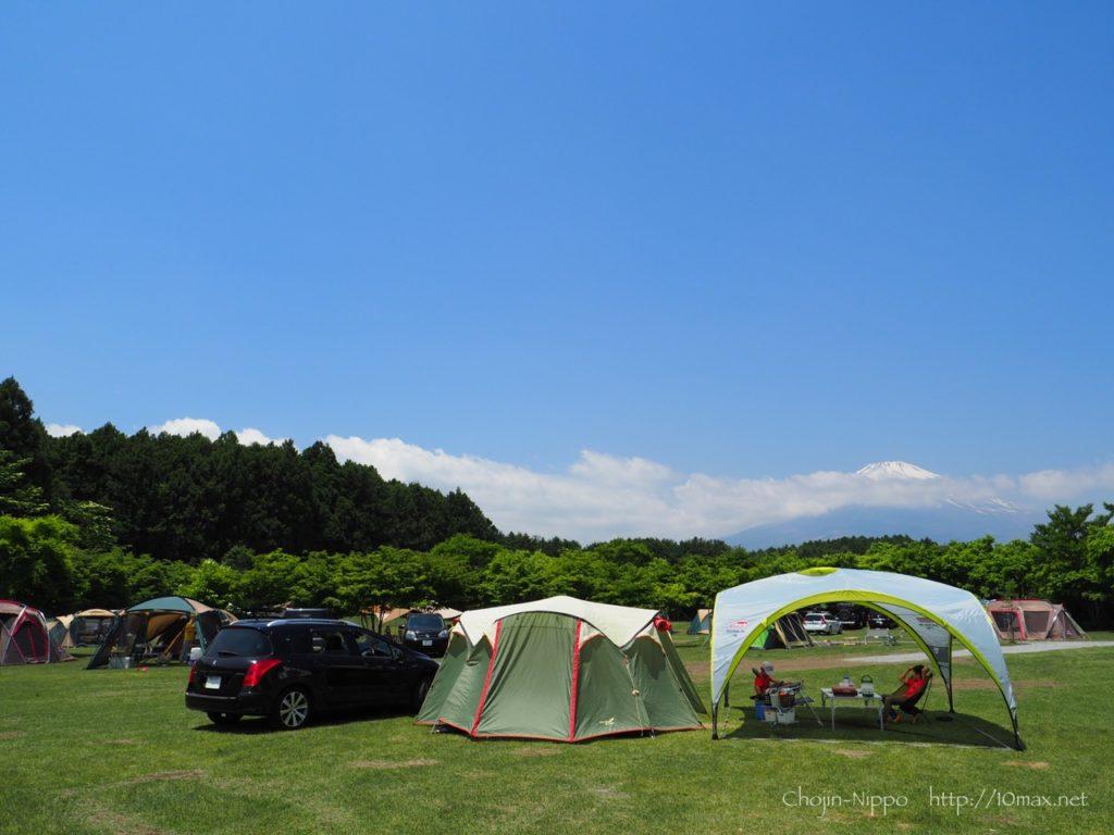 やまぼうしオートキャンプ場, 308SW, 富士山