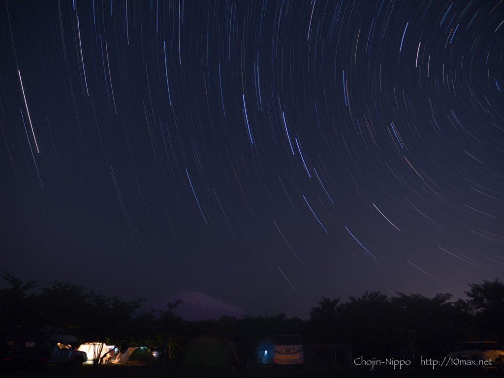 やまぼうしオートキャンプ場, 富士山, 星
