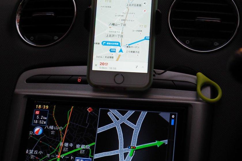 今更ながら車載スマホホルダー導入 | 夏の軽井沢のGoogleマップナビ様に感服して