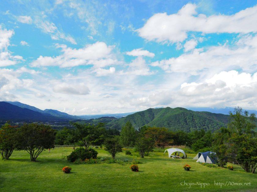 オートキャンプ牧場チロル 絶景