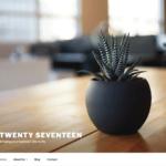 Twenty Seventeen テーマ