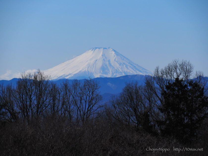 野山北・六道山公園 展望台 富士山