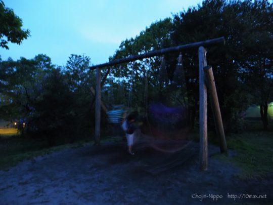 朝霧ジャンボリーオートキャンプ場, ブランコ