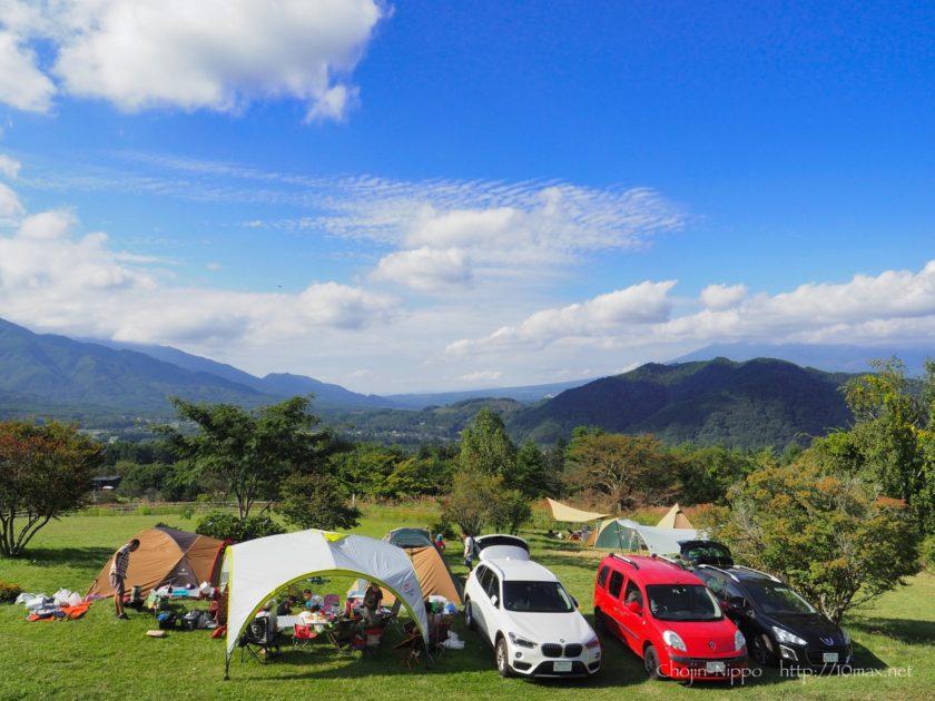 オートキャンプ牧場チロル 八ヶ岳 絶景