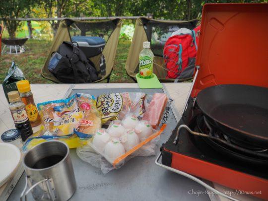 かずさオートキャンプ場 朝食