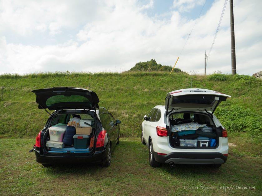 かずさオートキャンプ場 プジョー308SW BMW X1
