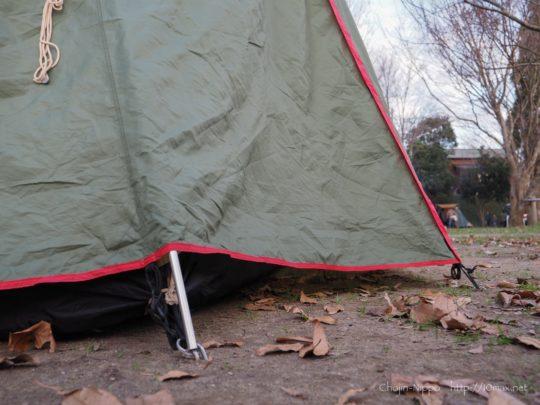 テント 冬 自作 スカート