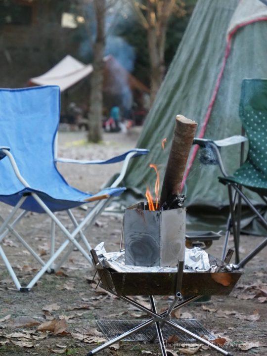 冬キャンプ 朝 焚き火