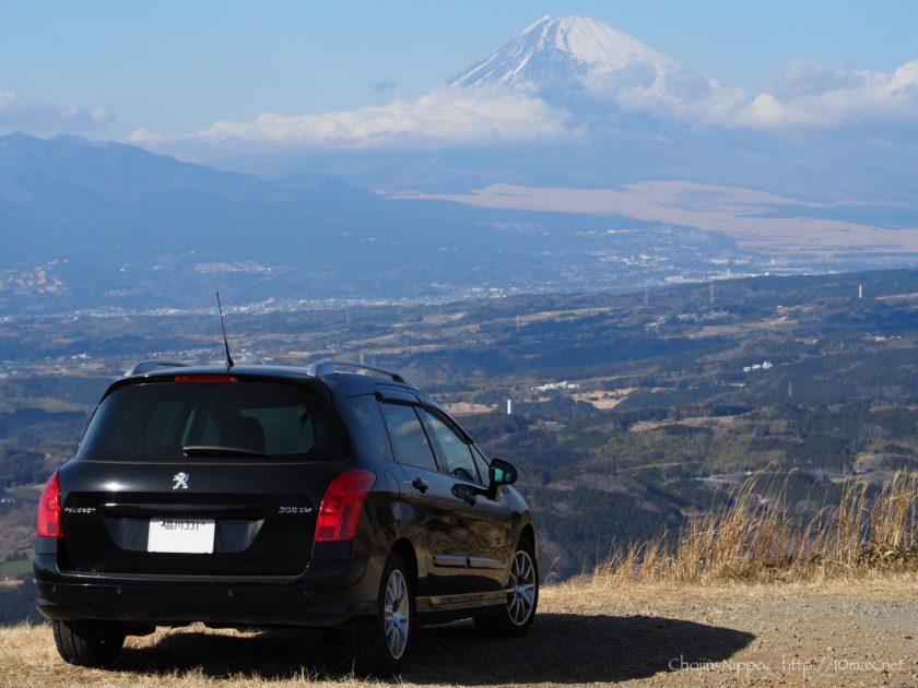 伊豆スカイライン 富士山 玄岳IC プジョー308SW