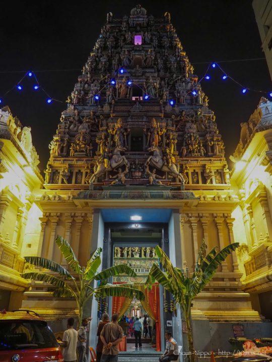 クアラルンプール チャイナタウン ヒンドゥー寺院