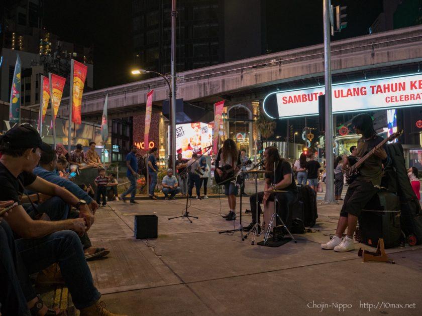 クアラルンプール ブキッビンタン Bukit Bintang ストリートライブ