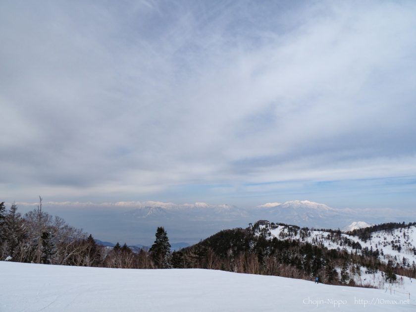 志賀高原 寺子屋スキー場 北アルプス
