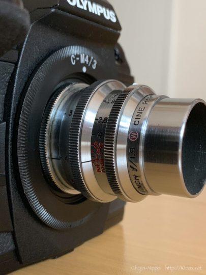 Wollensak Cine Raptar 1inch F1.9 E-M1 Mark II