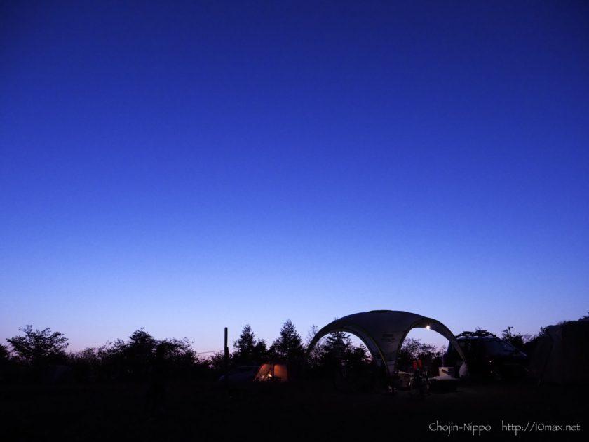 内山牧場キャンプ場 夕景