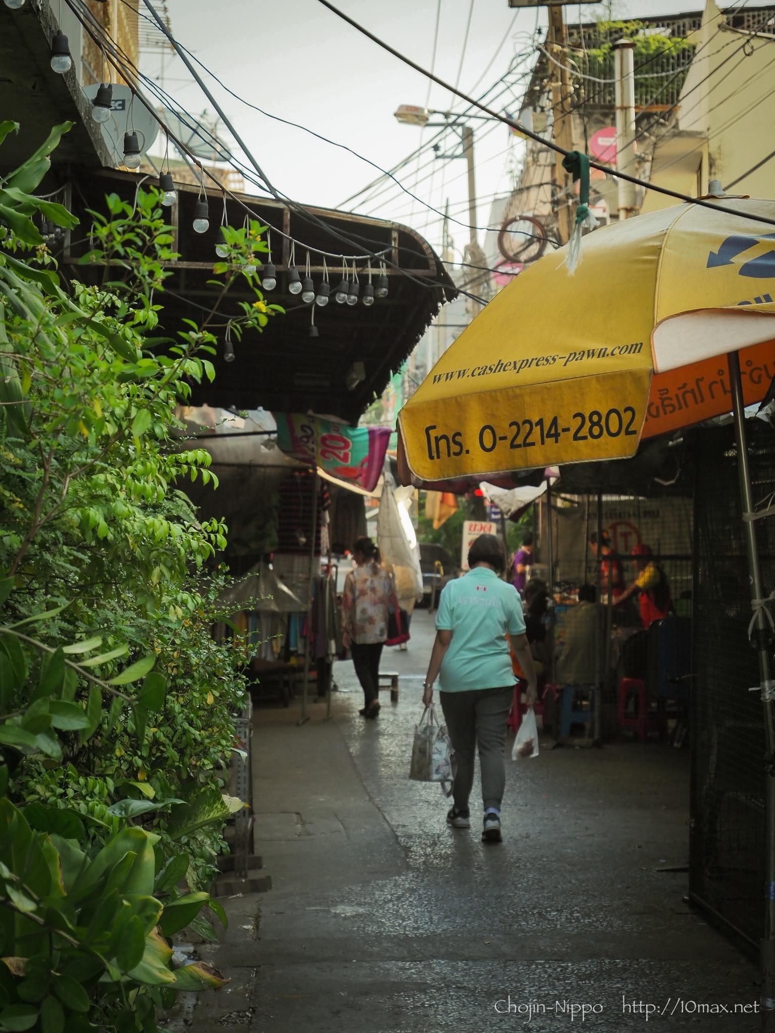 タイ バンコク ホアランポーン駅 路地