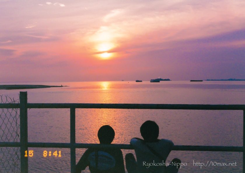 マラッカ海峡 夕日 日没