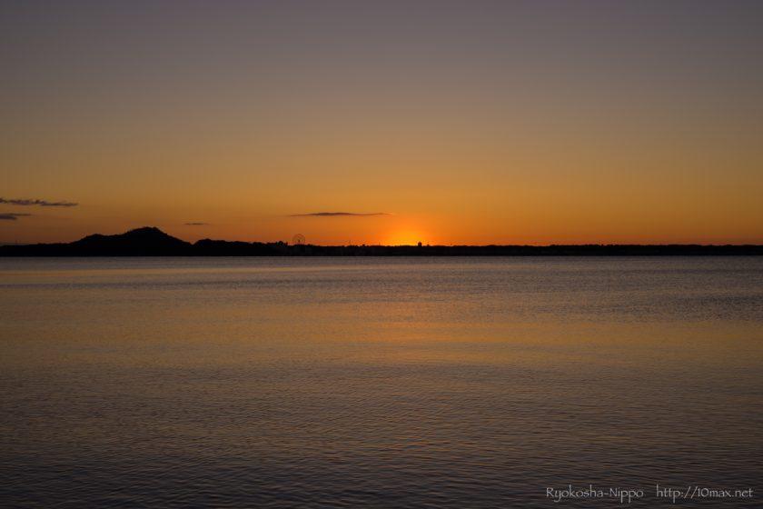 浜名湖 初日の出