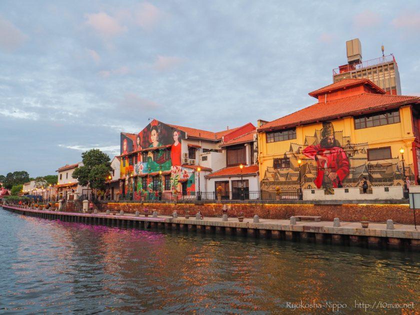 マラッカ川 壁画 アート