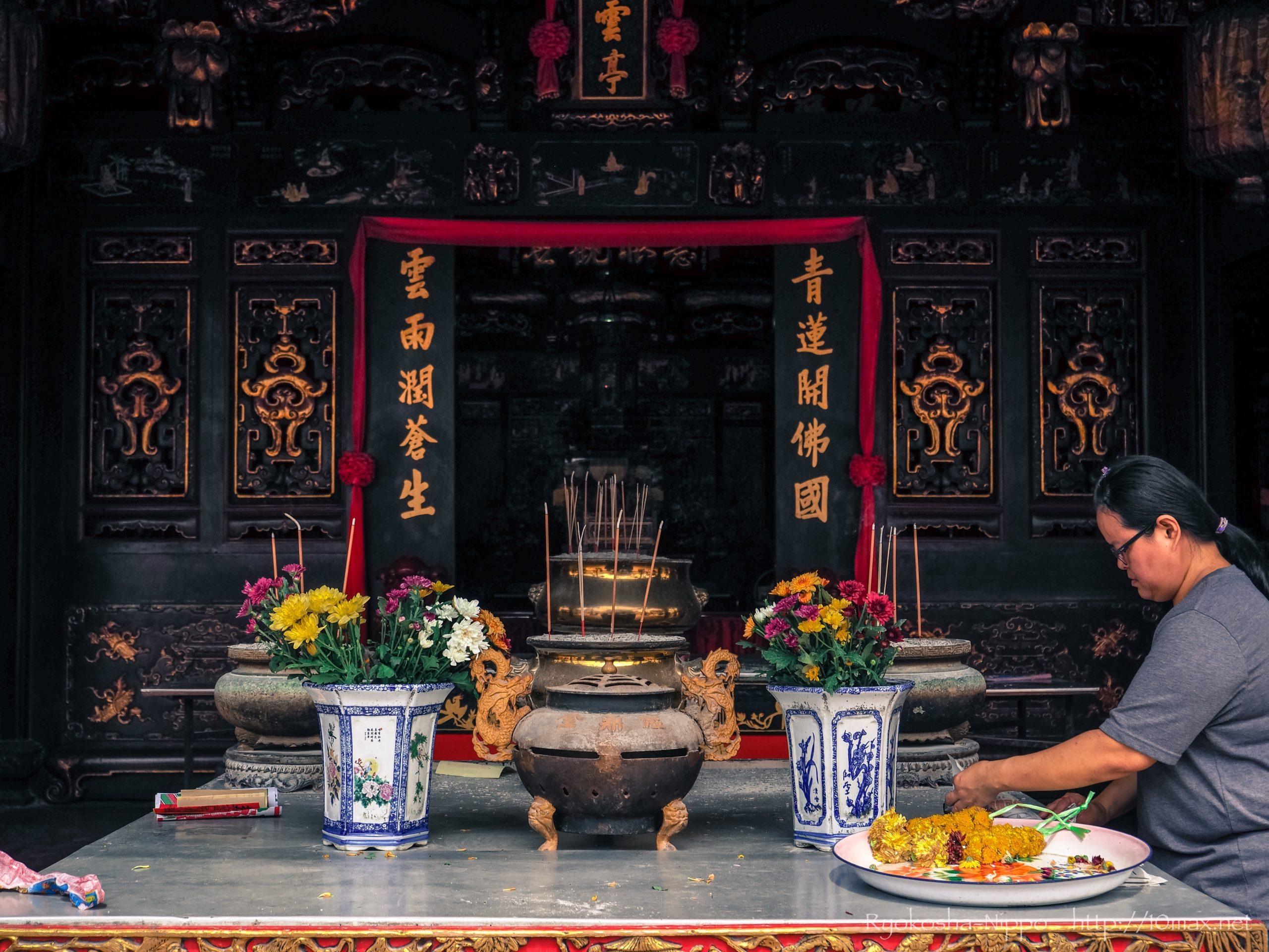 マラッカ マレーシア 青雲亭(チェンフーテン)仏教寺院