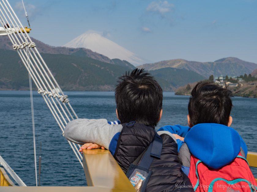芦ノ湖 遊覧船 富士山 箱根