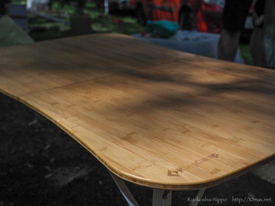 Kingcamp バンブーテーブル 折り畳み キャンプ アウトドア