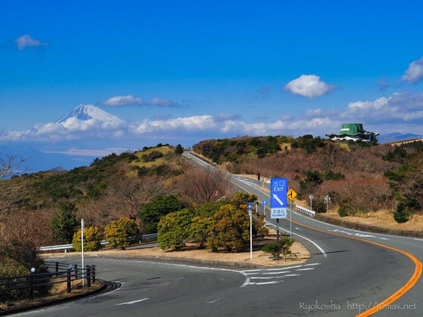伊豆スカイライン 駿河湾 富士山 撮影ポイント 愛車 プジョー 308SW 玄岳IC