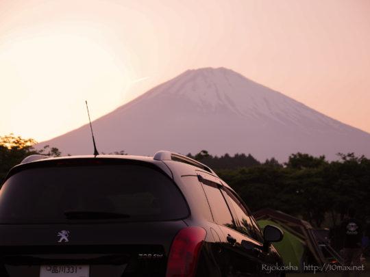 プジョー 308SW やまぼうしオートキャンプ場 富士山