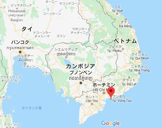 ブンタウ 地図