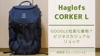 【レビュー】Haglofs CORKER   ビジネスカジュアルに使える北欧デザインの高機能リュックサック