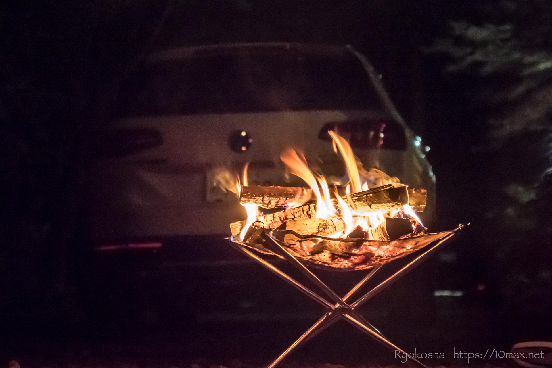 キャンプ 焚火 パサートオールトラック