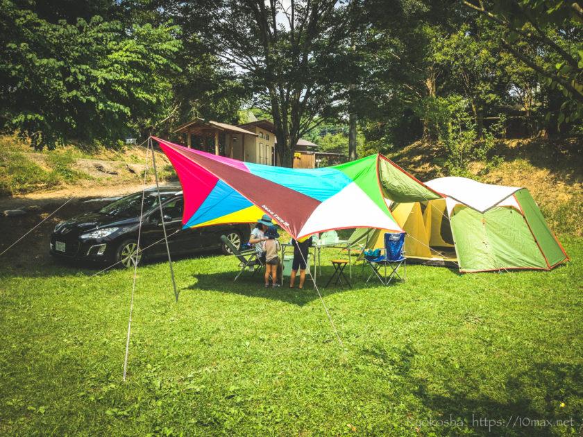初めてのファミリーキャンプ かずさオートキャンプ場