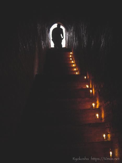 オールドバガン ピァダッヂィ寺院 夕日