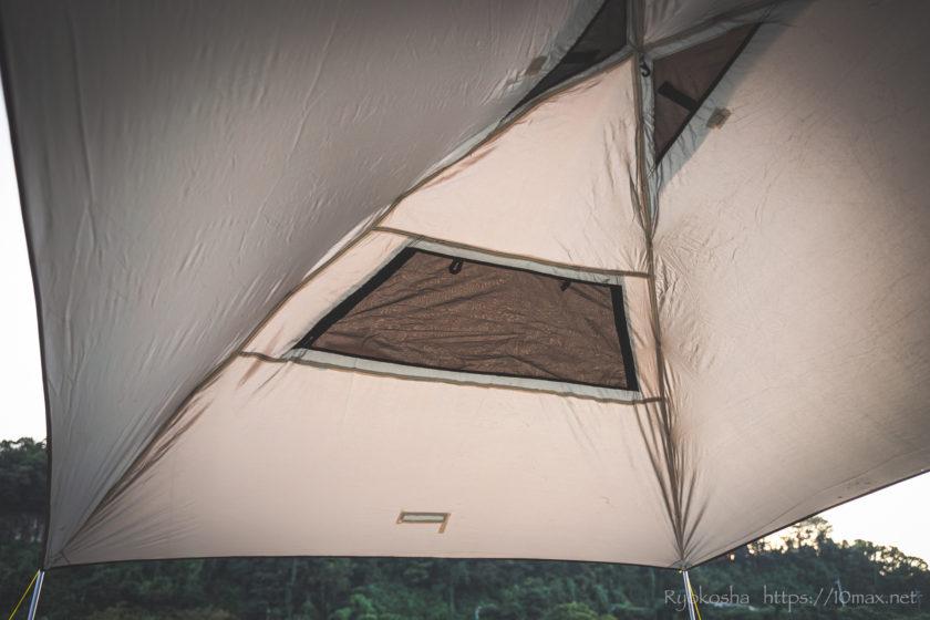 ワーケーション キャンプ カーサイドタープ