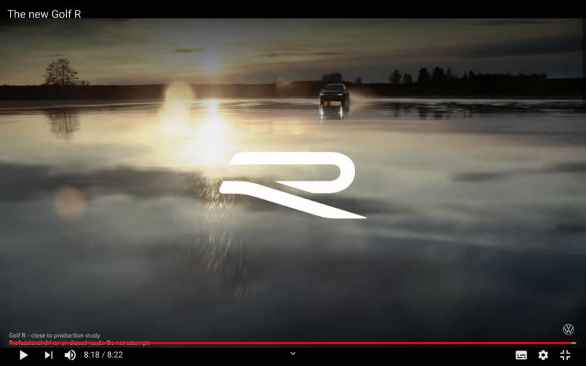 フォルクスワーゲン ゴルフ8R 新型 内装