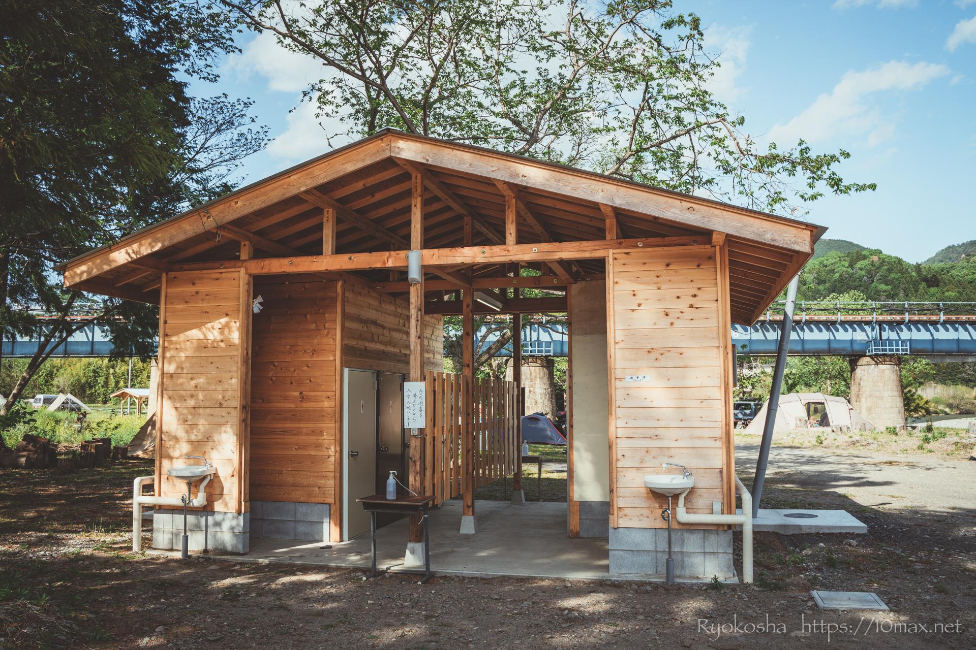 上小川キャンプ場 茨城県 設備 水場 トイレ