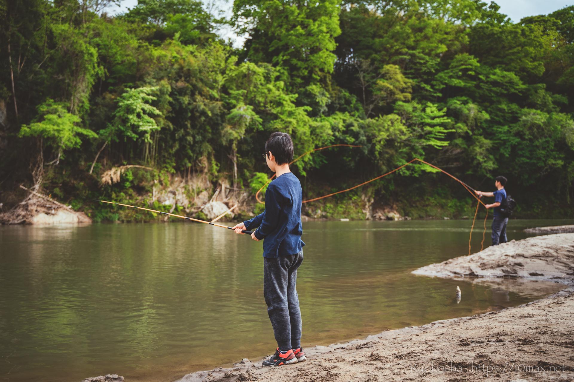 上小川キャンプ場 茨城県 釣り 久慈川 キャンプレポート ブログ