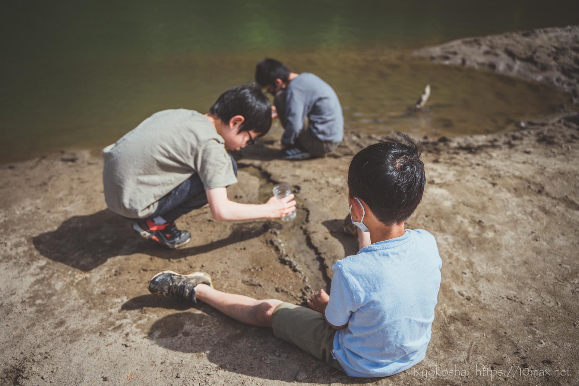 上小川キャンプ場 キャンプレポ 川遊び