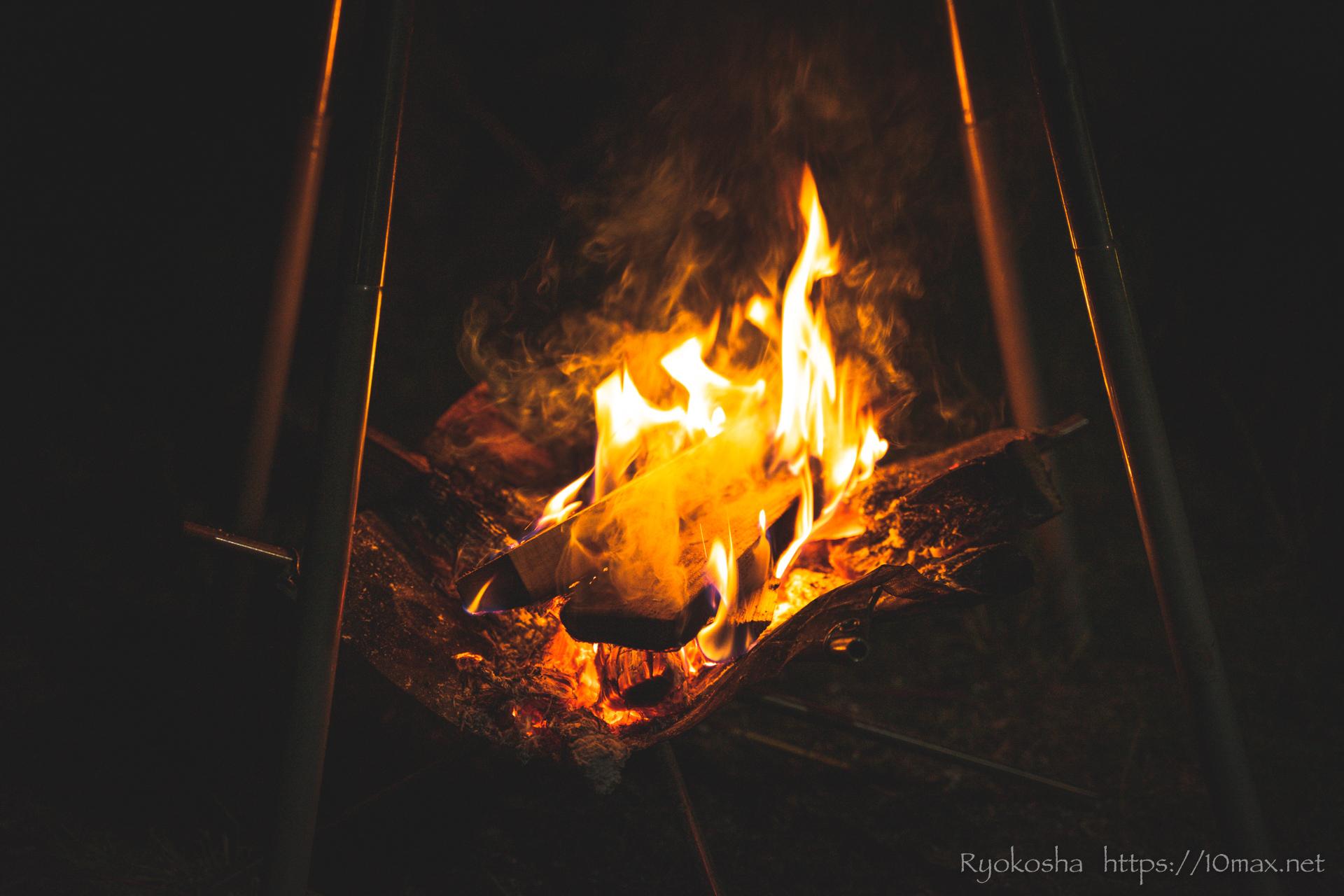 上小川キャンプ場 キャンプレポ 焚き火