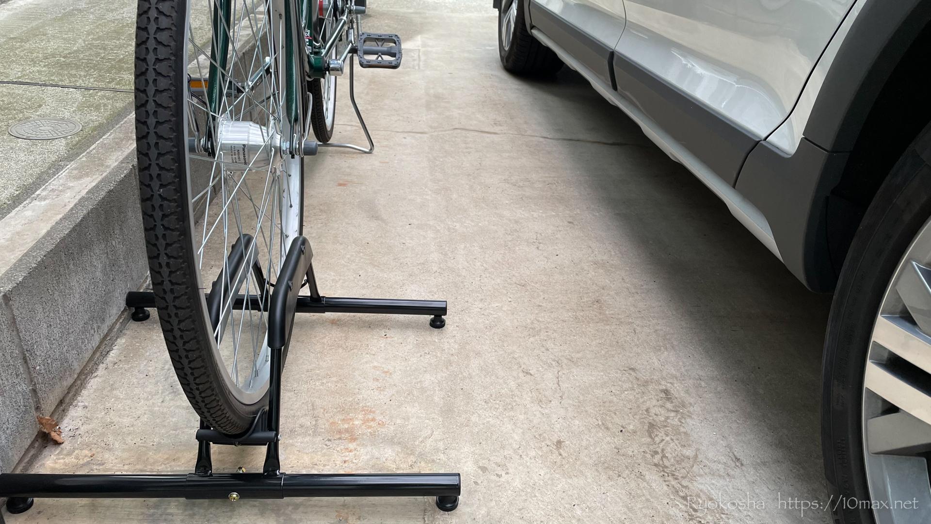 車 自転車 転倒防止 スタンド