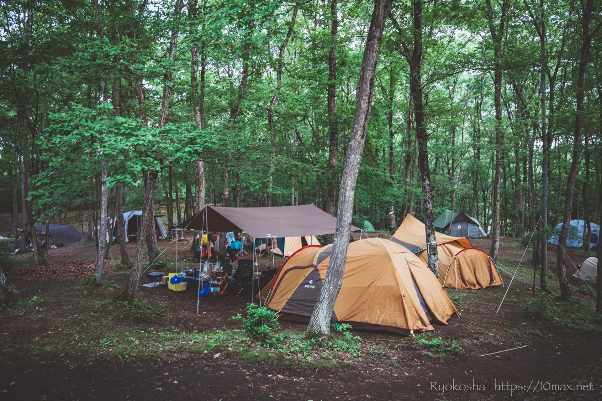 フォレストピア七里の森 コテージ MTBダウンヒル 林間テントサイト