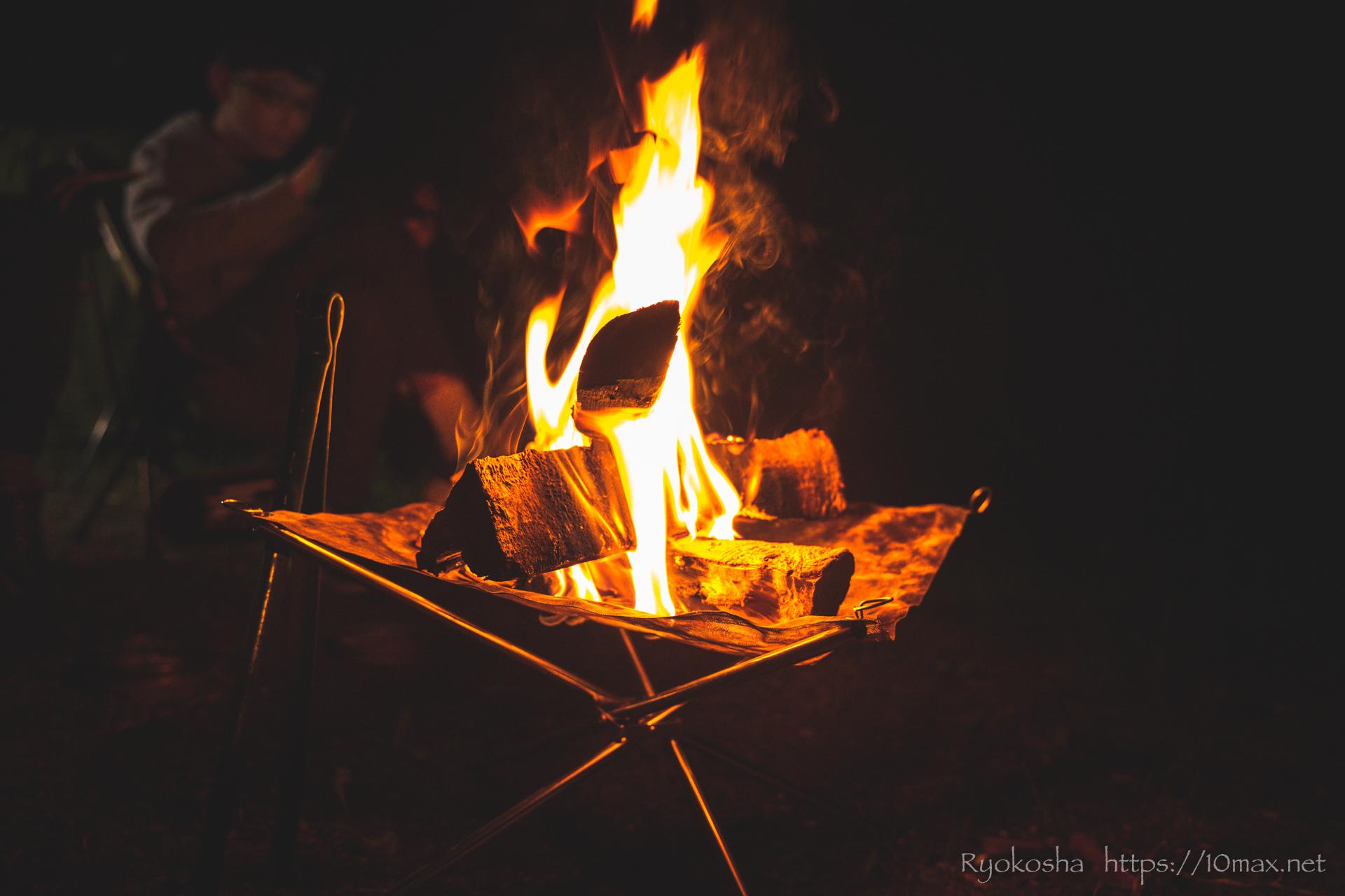 フォレストピア七里の森 コテージ MTBダウンヒル 焚き火