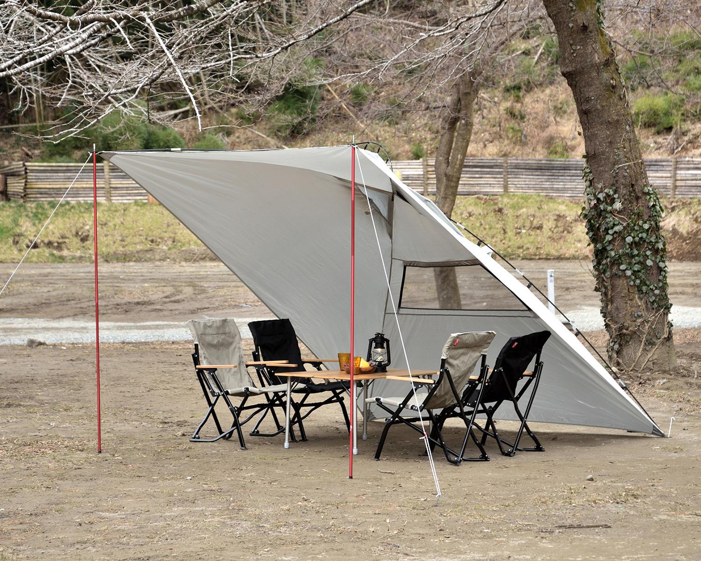 カーサイドタープ キャンプ 設営 簡単 楽 時短 メリット デメリット FIELDOOR