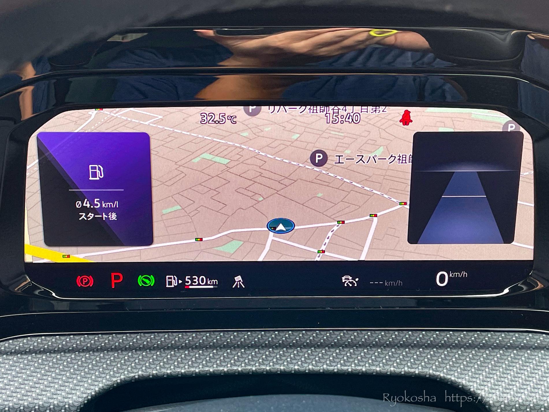 ゴルフヴァリアント ゴルフ8 R-Line 新型 2021年 試乗 Digital Cockpit Pro デジタルメータークラスタ