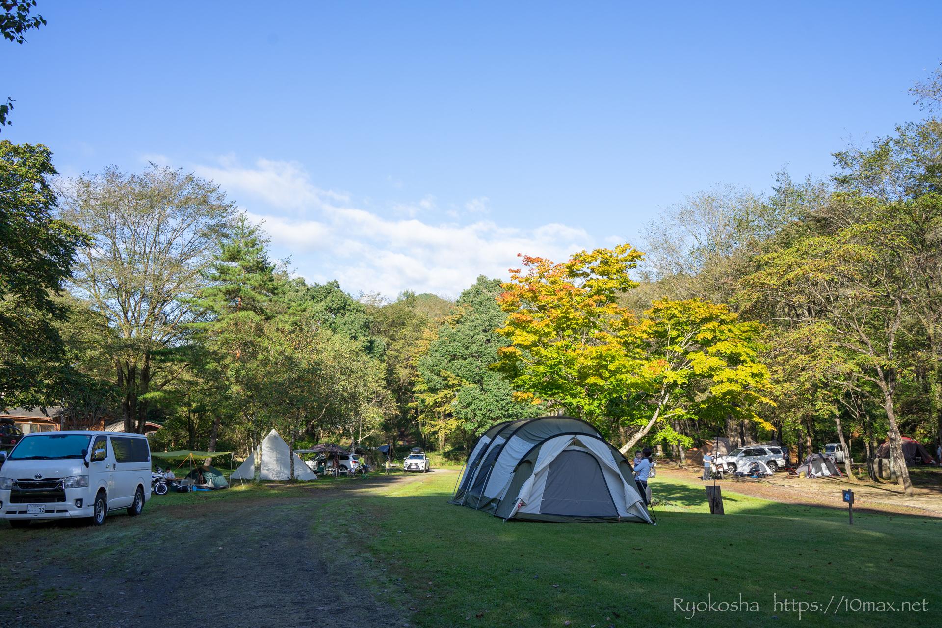 暮坂高原オートキャンプ場 テントサイト 広場エリア