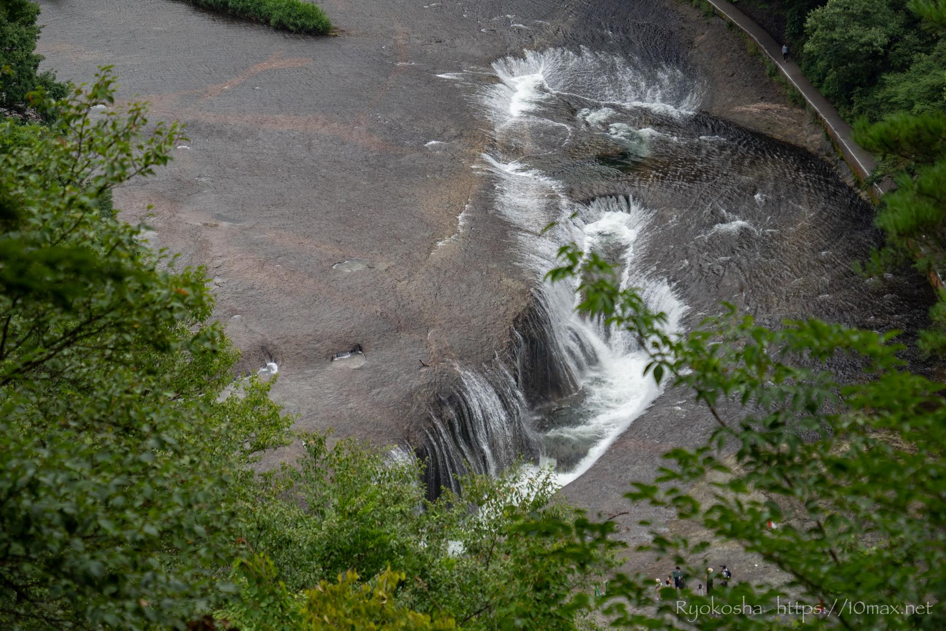 群馬県 沼田市 吹割の滝 東洋のナイアガラ 遊歩道 第一観瀑台
