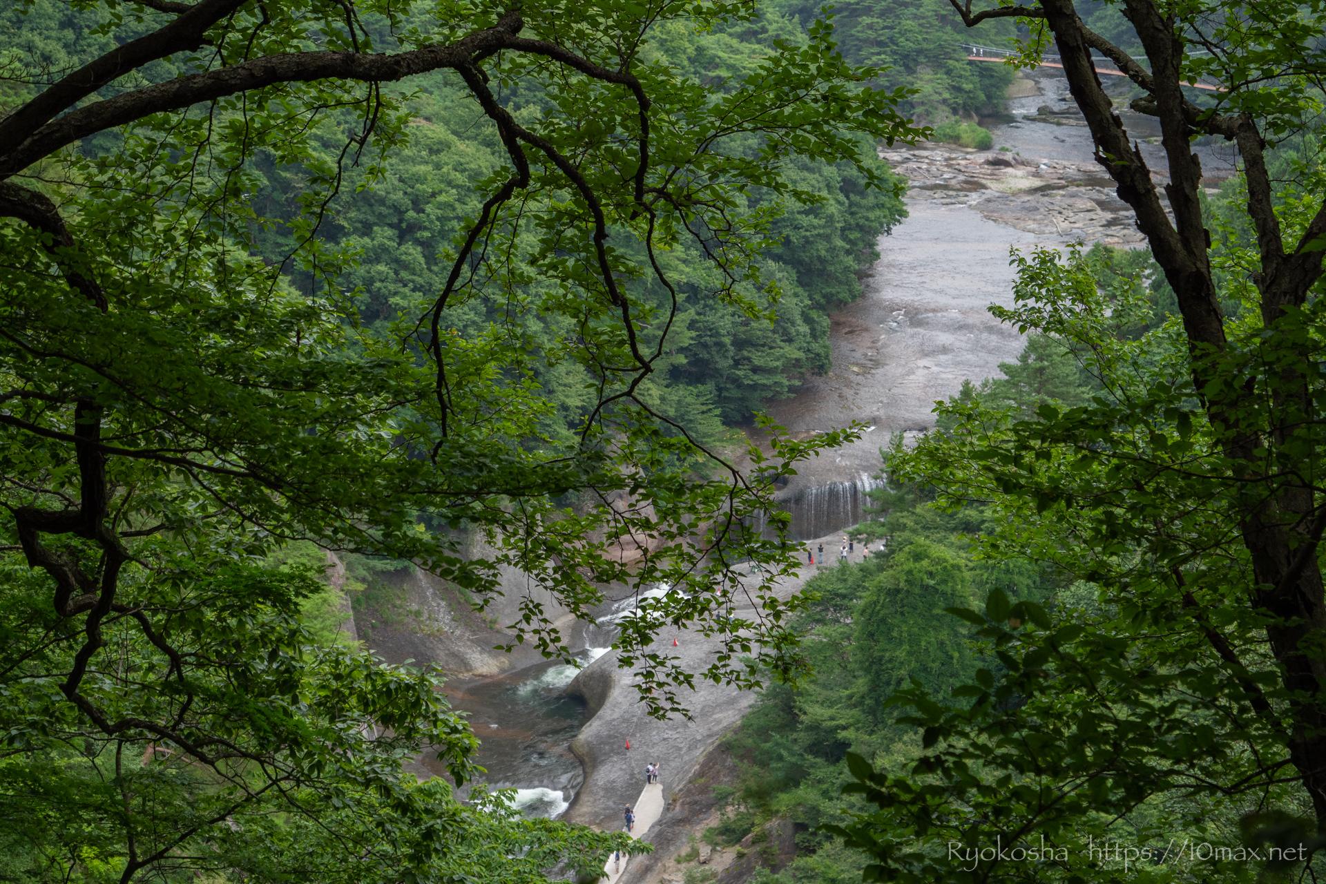 群馬県 沼田市 吹割の滝 東洋のナイアガラ 遊歩道 第三観瀑台
