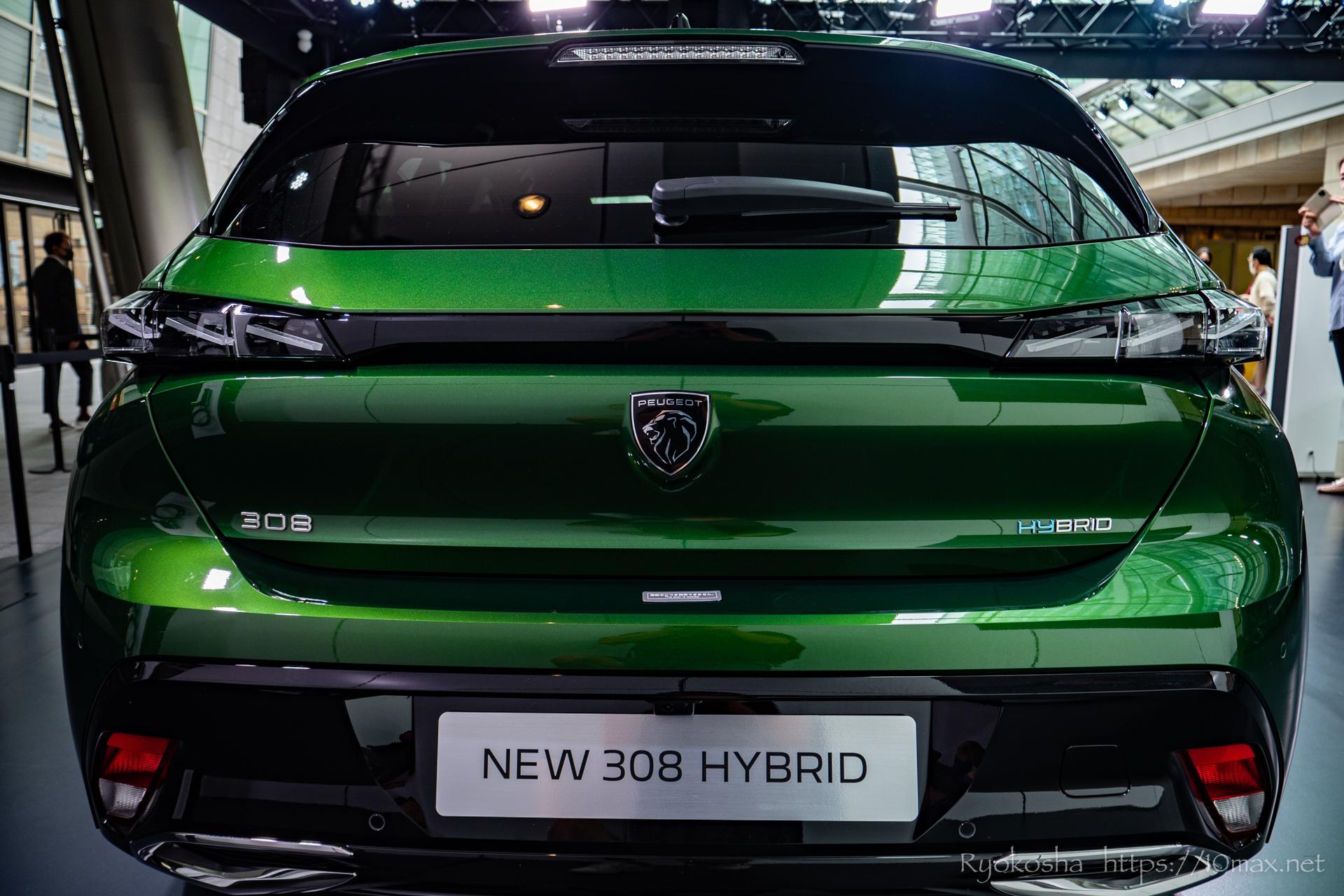 プジョー 308 新型 LION EXPERIENCE 2021 六本木ヒルズ 実車 写真 新ブランドロゴ