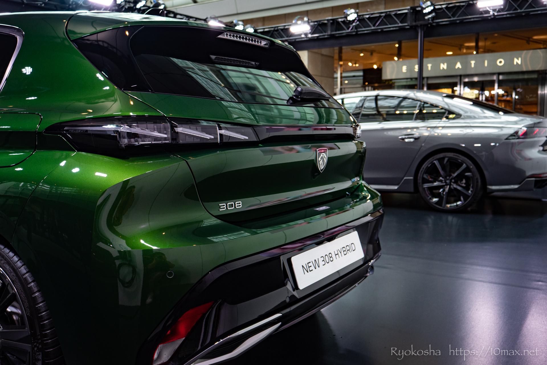 プジョー 308 新型 LION EXPERIENCE 2021 六本木ヒルズ 実車 写真